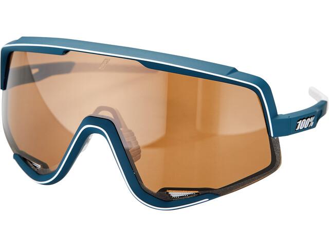 100% Glendale Bril, oranje/blauw